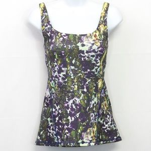 Lululemon Floral Dotted Tank Top 4 Fitted